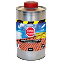 Imperméabilisant hydrofuge incolore toiture poreuse pour tuiles en terre cuite