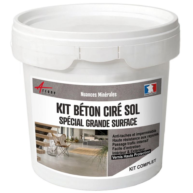 KIT BETON CIRE SOL GRANDE SURFACE HAUTE PROTECTION